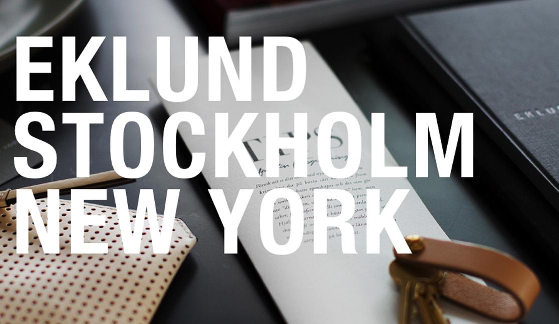 Eklund Stockholm New York