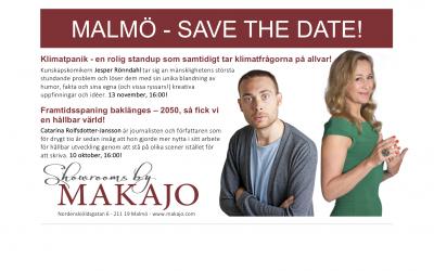 Jesper Rönndahl & Catarina Rolfsdotter-Jansson gästar Showrooms by MAKAJO